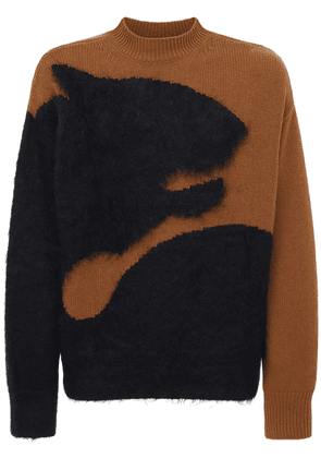 Tiger Intarsia Brushed Sweater