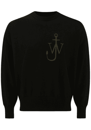 J Anchor Intarsia Knit Wool Sweater