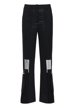 Crepe & Chiffon Straight Pants