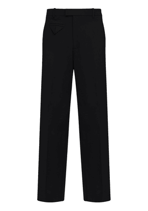 Stretch Nylon Canvas Wide Leg Pants