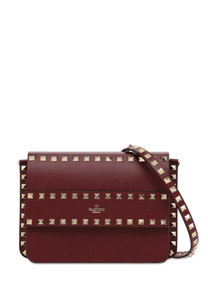 Rockstud Smooth Leather Shoulder Bag