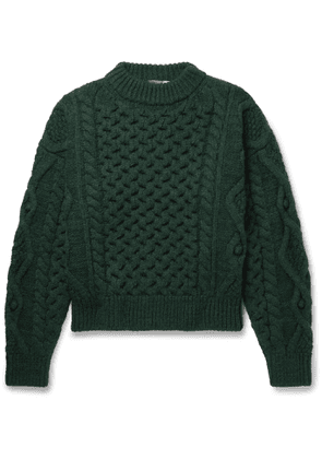 Isabel Marant - Flick Wool-Blend Cable-Knit Sweater - Men - Green