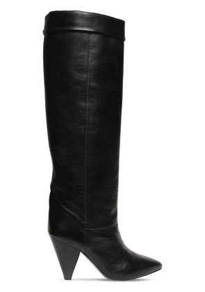 90mm Loens Leather Over-the-knee Boots