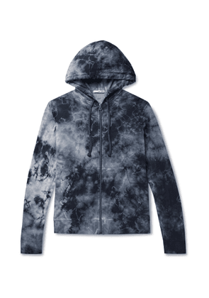 James Perse - Tie-Dyed Loopback Supima Cotton-Jersey Zip-Up Hoodie - Men - Blue