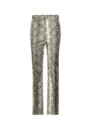 Robyn snake-effect faux leather pants