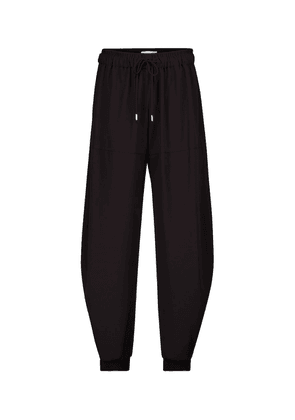 High-rise tapered trackpants