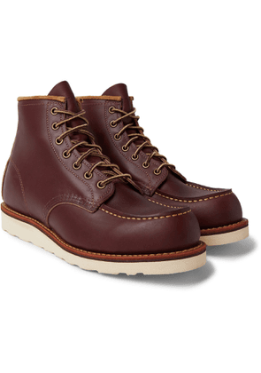 Red Wing Shoes - Classic Moc Leather Boots - Men - Burgundy