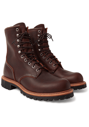 Red Wing Shoes - 4585 Logger Leather Boots - Men - Brown
