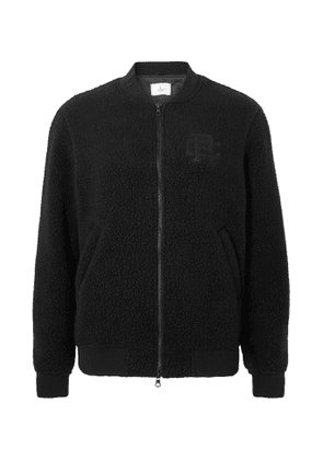 Reigning Champ - Stadium Logo-Embroidered Polartec Fleece Bomber Jacket - Men - Black