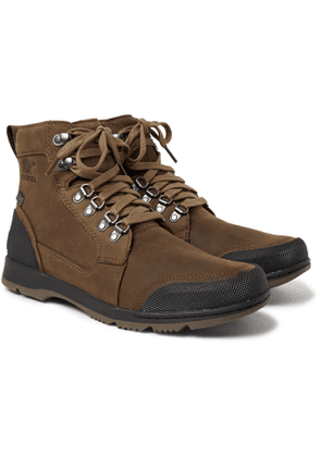 Sorel - Ankeny II Rubber-Trimmed Leather Boots - Men - Brown