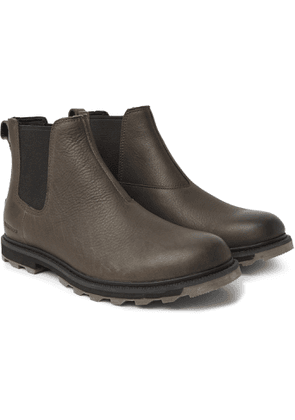 Sorel - Madson II Burnished Textured-Leather Chelsea Boots - Men - Brown
