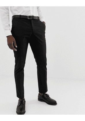 Selected Homme slim fit stretch suit trousers in black