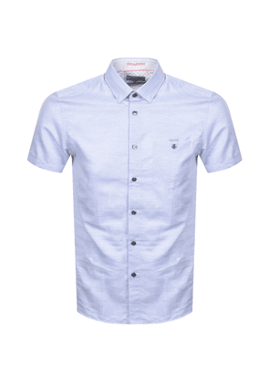 Ted Baker Havefun Short Sleeved Shirt Blue