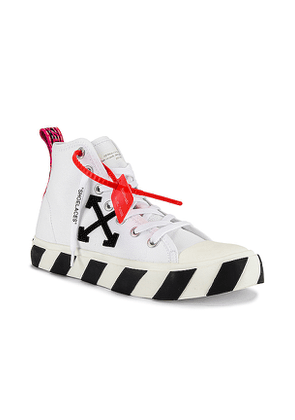 OFF-WHITE Mid Top Sneaker in White. Size 42, 43.