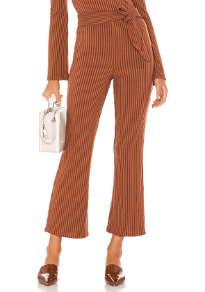 Song of Style Ines Knit Pant in Chocolate. Size XS, S, M, L, XL.