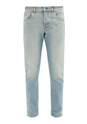 Gucci - Stone-bleached Tapered Jeans - Mens - Light Blue