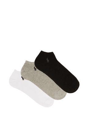 Polo Ralph Lauren - Pack Of Three Ghost Cotton-blend Ankle Socks - Mens - Multi