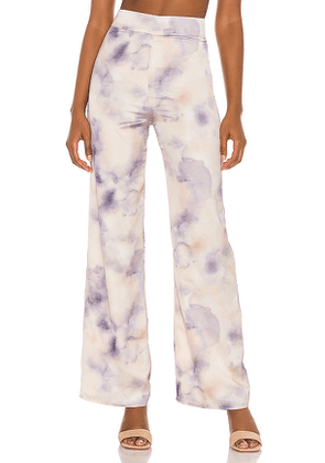 Song of Style Blaire Pant in Cream, Purple. Size XS, S, M, L, XL.