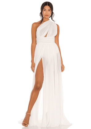 Bronx and Banco Aphrodite Bridal Gown in White. Size L, M, S.