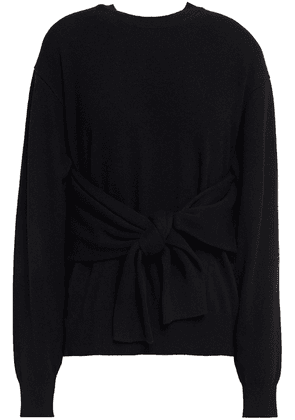 Alexander Wang Knotted Wool-blend Sweater Woman Black Size XS