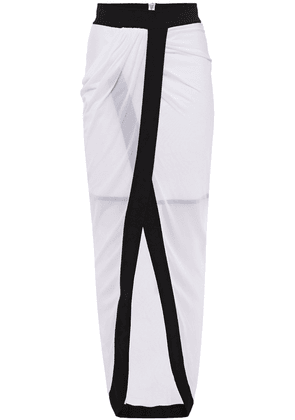 Balmain Wrap-effect Stretch-jersey Skirt Woman White Size 36