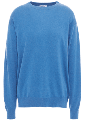 Brunello Cucinelli Bead-embellished Cashmere Sweater Woman Blue Size S