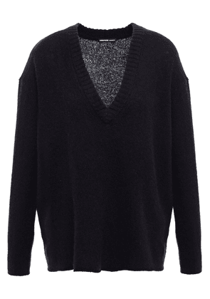 James Perse Wool And Cashmere-blend Sweater Woman Black Size 2