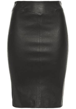 Joseph Clara Leather Skirt Woman Black Size 34