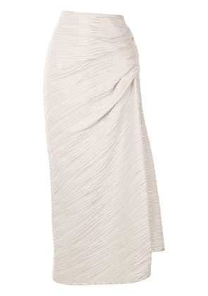 Acler Grivell gathered skirt - SILVER