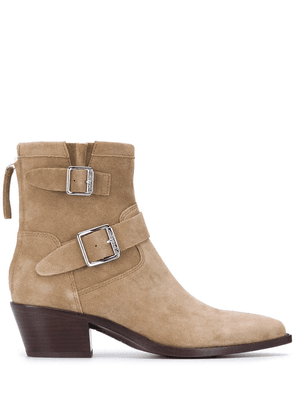 Ash Doors buckled ankle boots - Neutrals