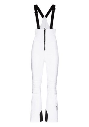 Colmar zip-up front ski overalls - White