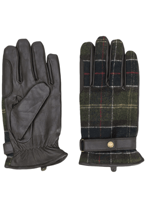 Barbour checked gloves - Green