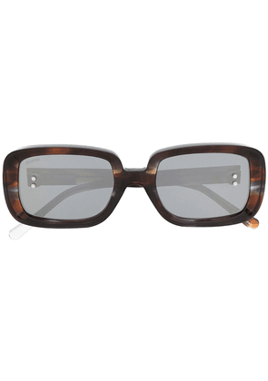 Doublet rectangle flame sunglasses - Brown