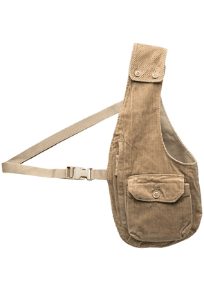 Engineered Garments corduroy half-gilet shoulder bag - Neutrals