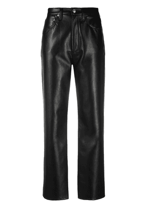 AGOLDE high-waisted leather trousers - Black
