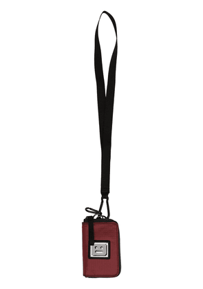 Acne Studios face-plaque lanyard wallet - Red