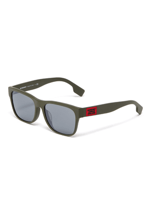 Matte acetate frame square sunglasses