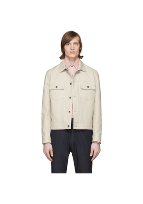 Eidos Beige Cotton Trucker Jacket