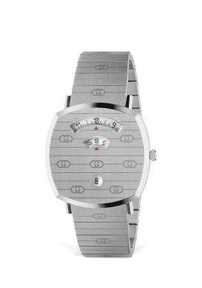 38mm Gucci Grip Silver Colored Watch