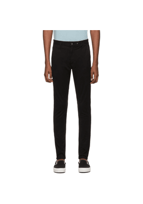 rag and bone Black Fit 1 Classic Chino Trousers