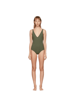 Toteme Green Melissa One-Piece Swimsuit