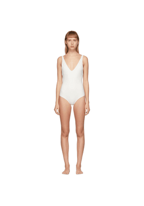 Toteme Off-White Melissa One-Piece Swimsuit