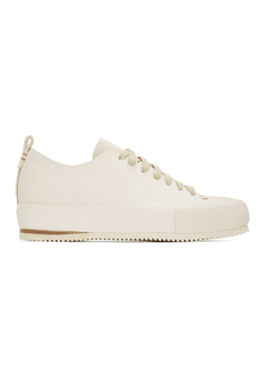 Feit Off-White Hand Sewn Low Sneakers