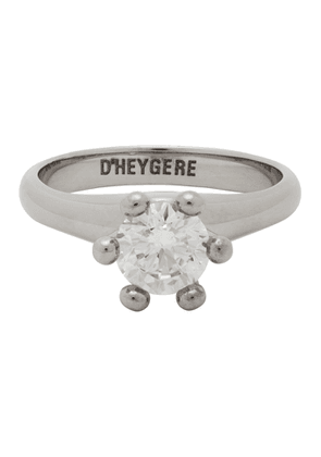 Dheygere Silver Solitare Pinky Ring