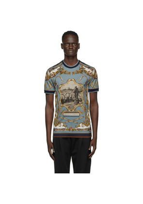 Dolce and Gabbana Multicolor Shepard Print T-Shirt
