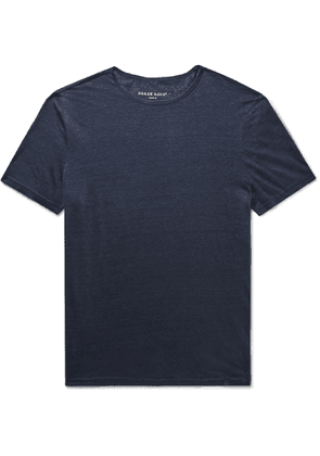 Derek Rose - Jordan Slub Linen T-Shirt - Men - Blue