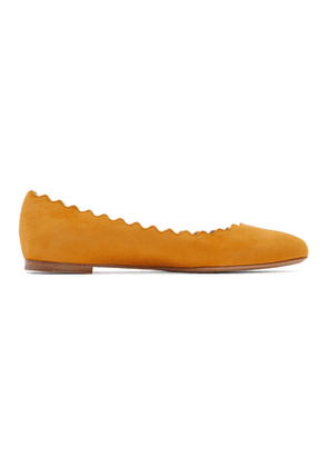 Chloe Orange Suede Lauren Flats