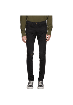 rag and bone Black Ripped Fit 1 Jeans