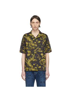 McQ Alexander McQueen Black and Yellow McQ Swallow Yoke Billy Shirt