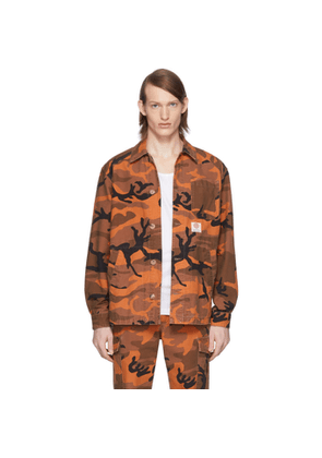 McQ Alexander McQueen Orange McQ Swallow Camo Marshall Shirt Jacket